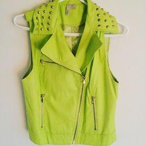 Studed Neon Vest